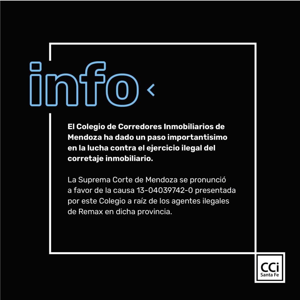 "EL SUPERIOR TRIBUNAL DE JUSTICIA DE MENDOZA CONFIRMÓ SENTENCIA CONTRA ""AGENTE"" DE REMAX – REAL ESTATE NEW GENERATION S.A."